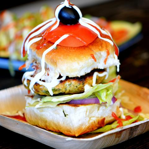 Masala Chicken Burger